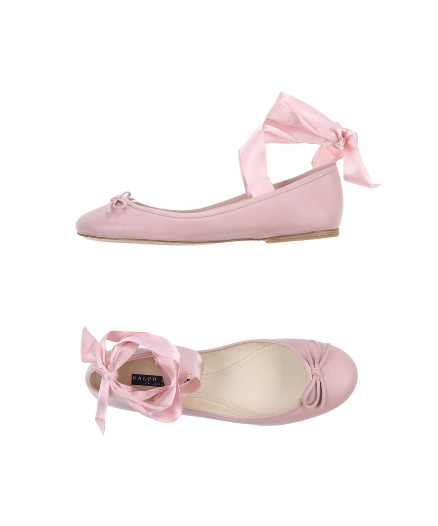 Image for Ralph Lauren Collection Pink Leather Ballet Flats