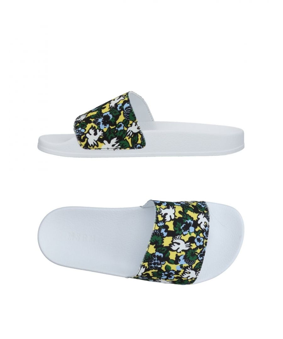 Image for MSGM Dark Blue Floral Print Sliders