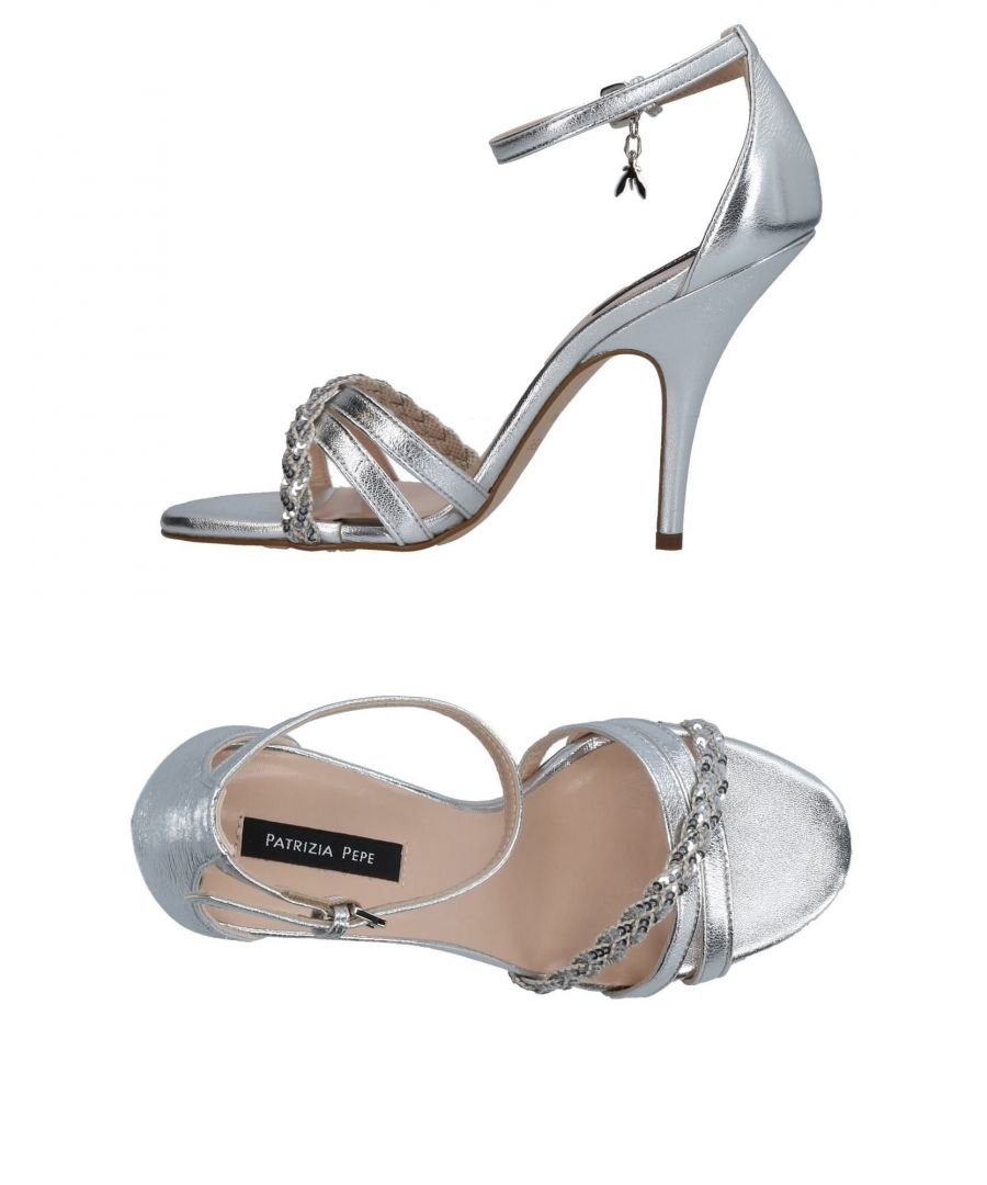 Image for Patrizia Pepe Silver Leather Heeled Sandals