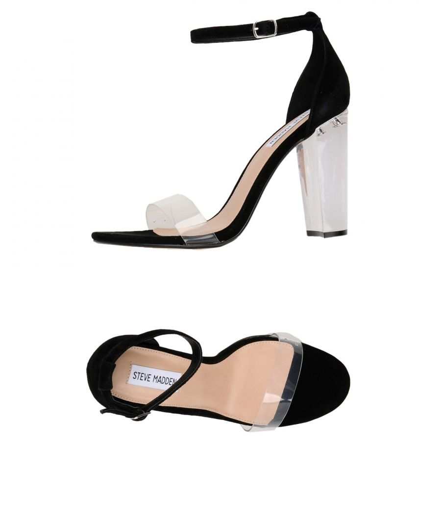 Image for Steve Madden Black Leather Heeled Sandals