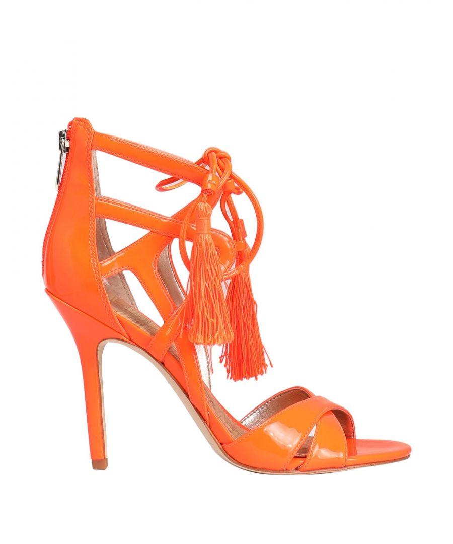 Image for Sam Edelman Orange Leather Heels