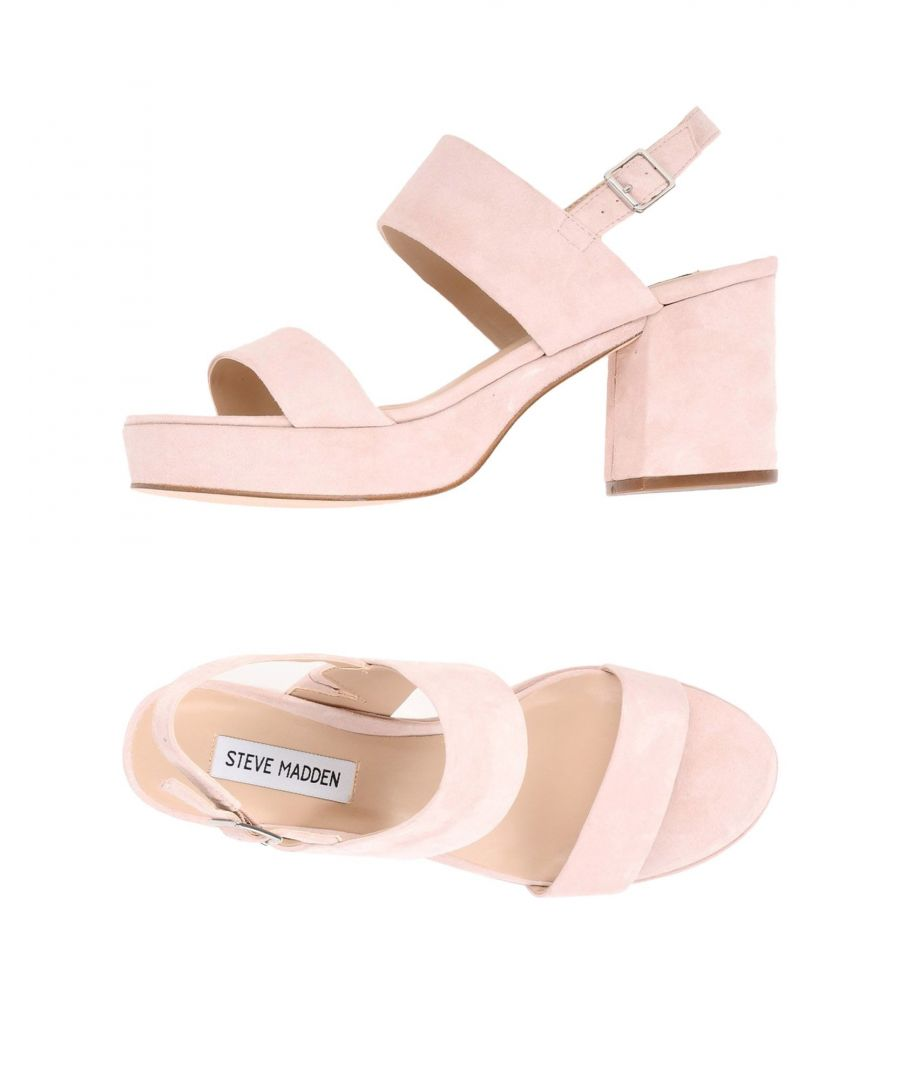 Image for Steve Madden Pink Leather Heeled Sandals