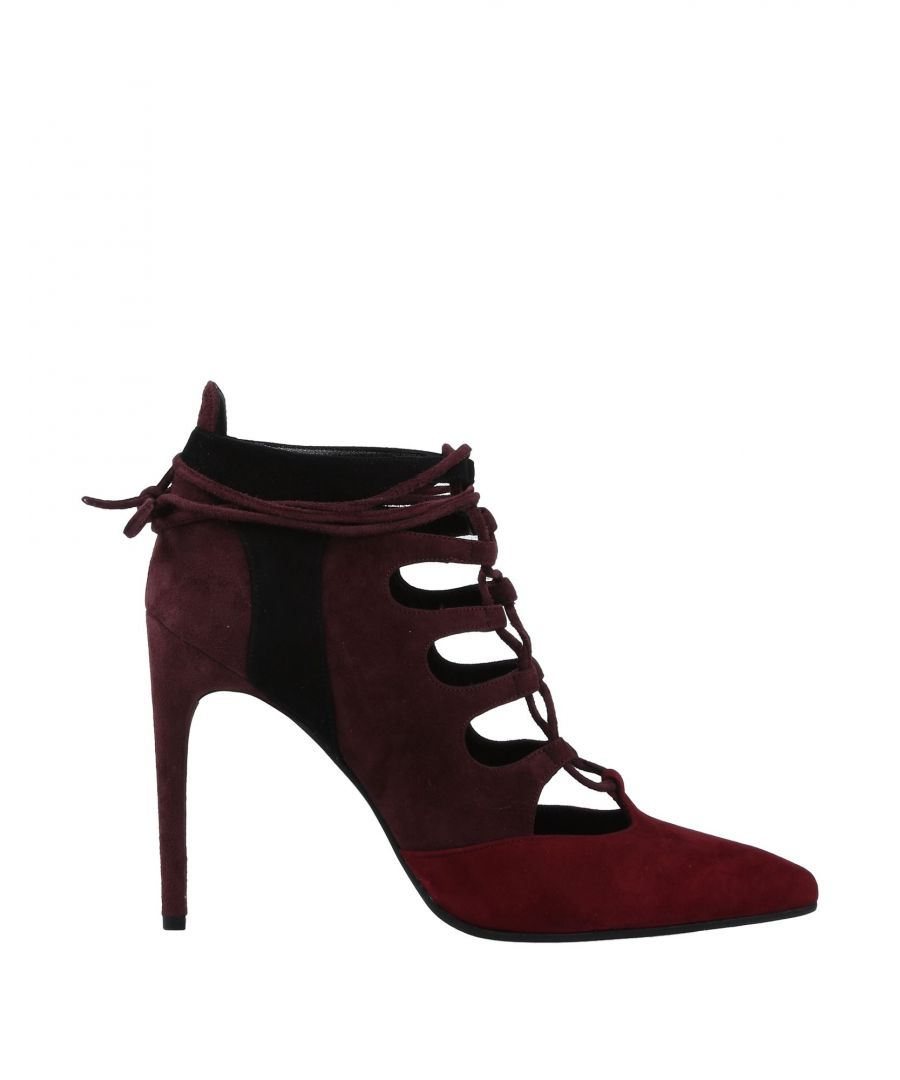 Image for Gianni Marra Maroon Leather Lace Up Heels