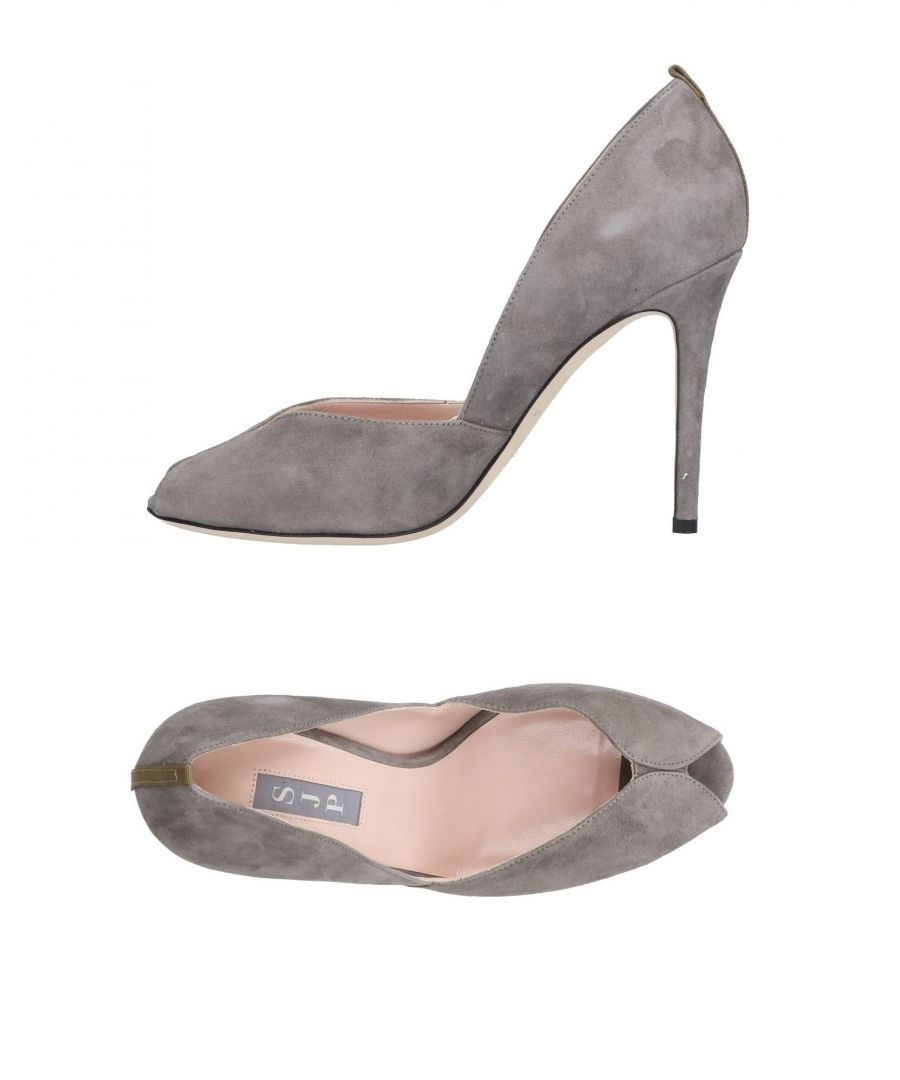 Image for SJP By Sarah Jessica Parker Grey Leather Heels
