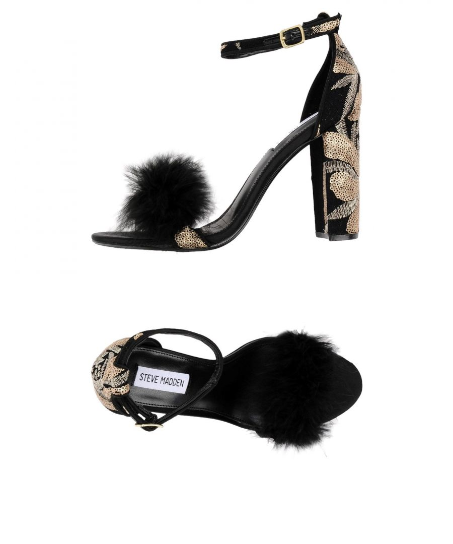 Image for Steve Madden Black Sequinned Heeled Sandals