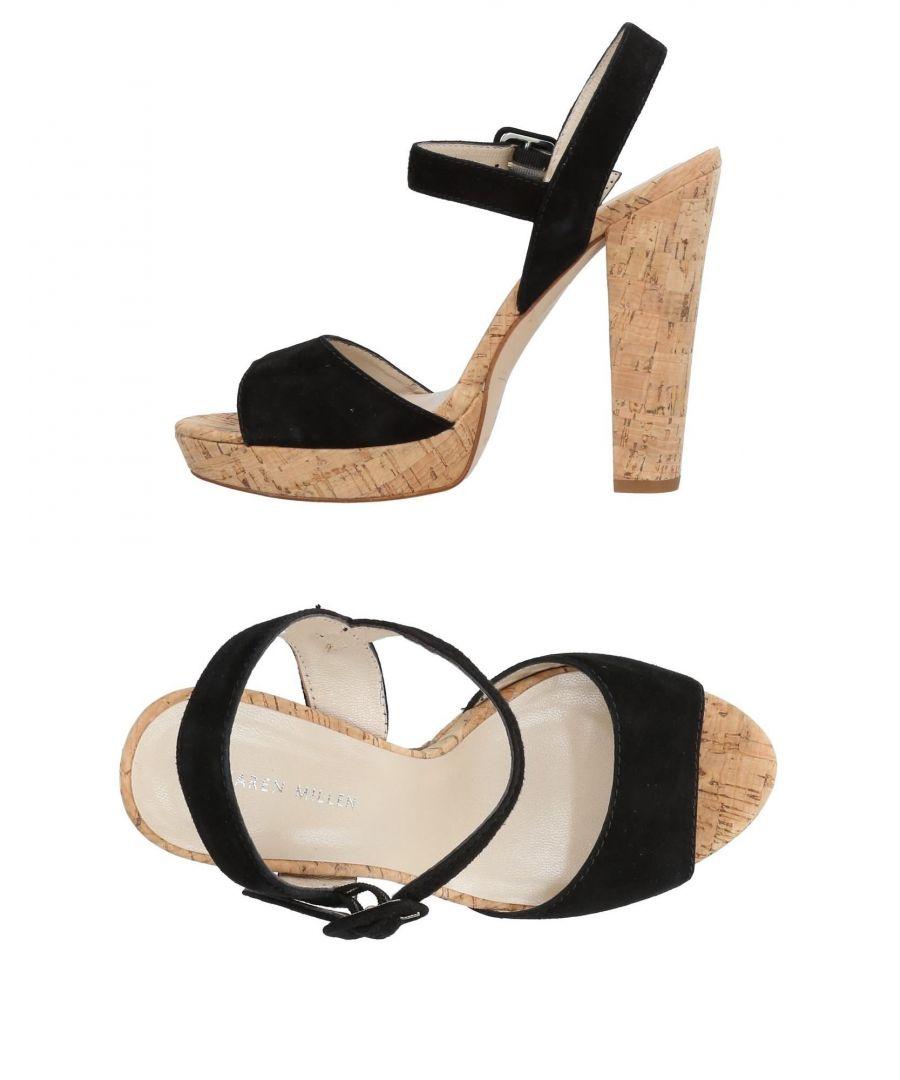 Image for Karen Millen Black Leather Heeled Sandals