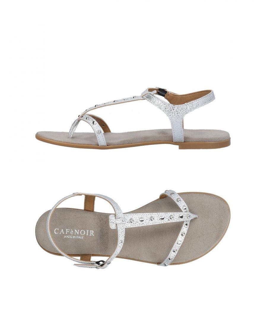 Image for Cafènoir Silver Toe Post Sandals