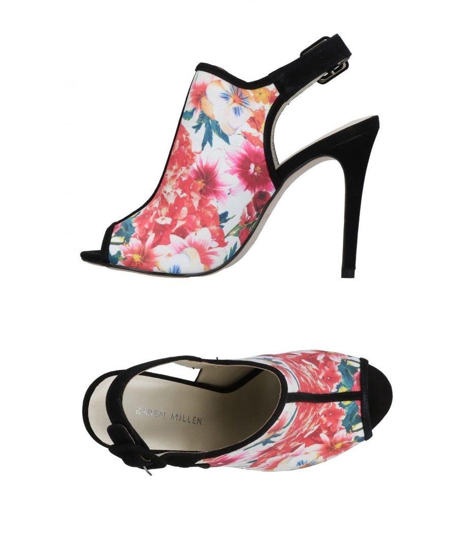 Image for Karen Millen White Floral Print Heels