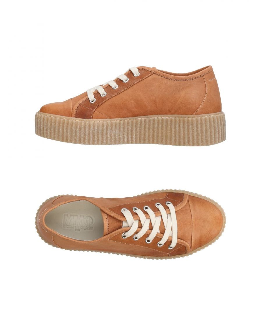 Image for MM6 Maison Margiela Brown Leather Sneakers
