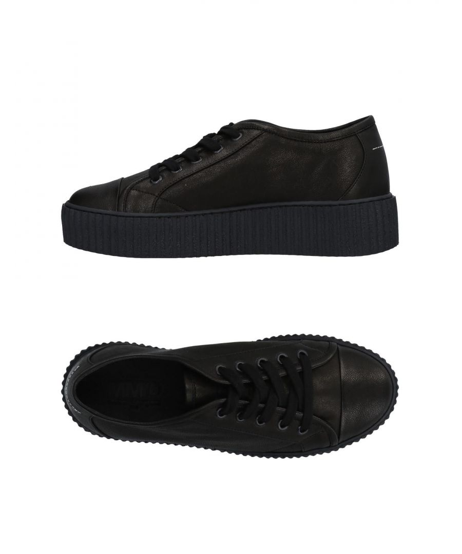 Image for MM6 Maison Margiela Black Leather Sneakers