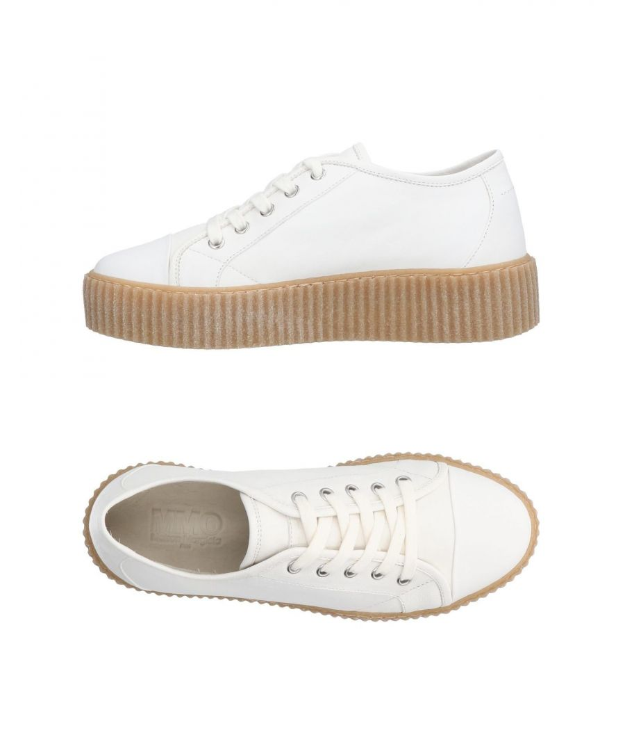 Image for MM6 Maison Margiela White Leather Sneakers