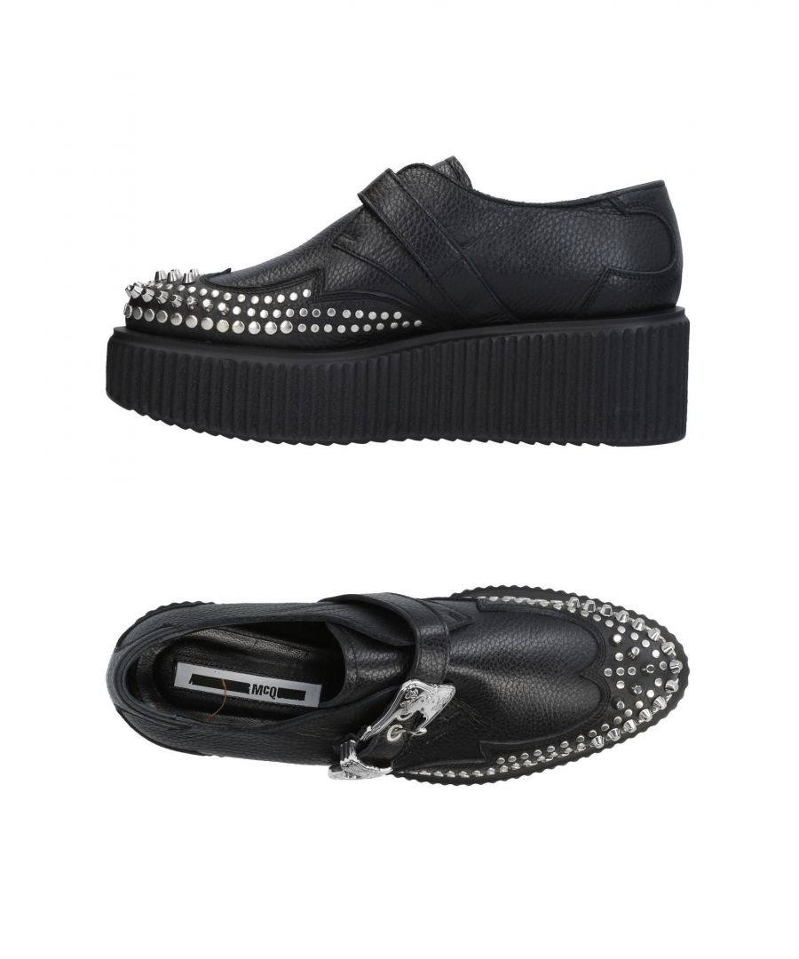 Image for Mcq Alexander McQueen Black Leather Monkstrap Shoes