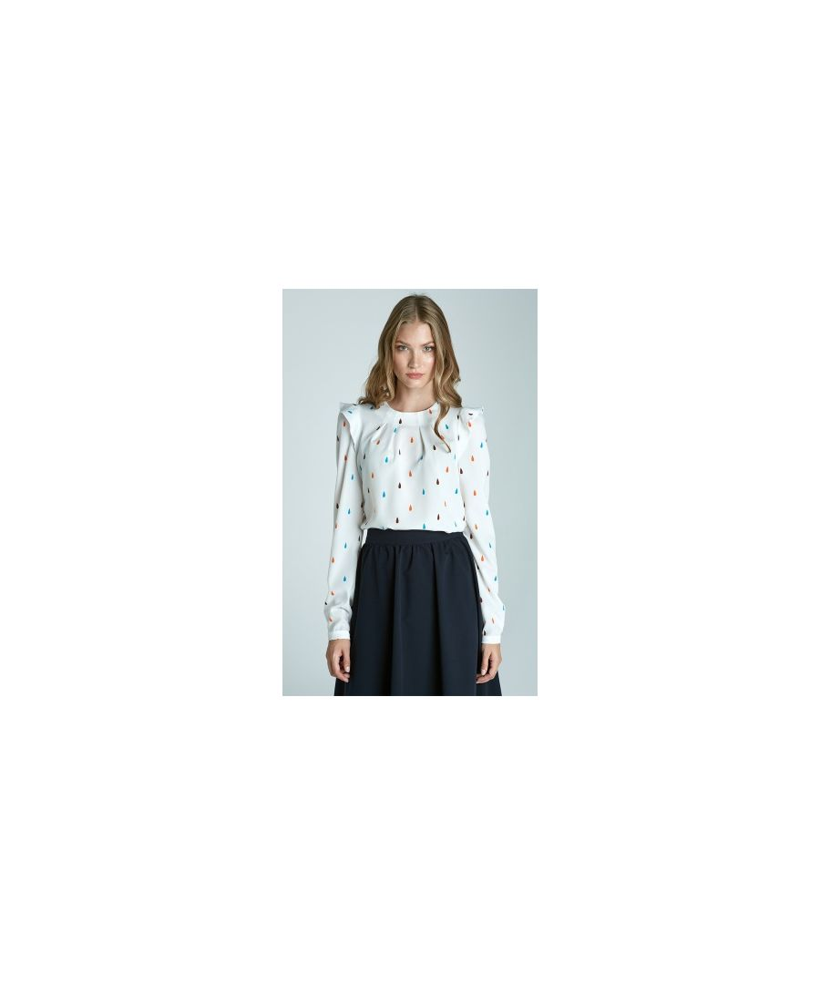 Image for Blouse with ruffles on the shoulders - teardrop