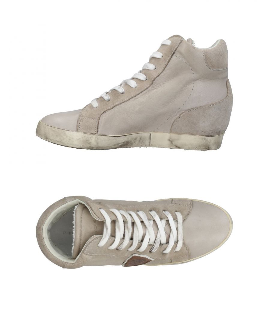 Image for Philippe Model Light Grey Leather Wedge Sneakers