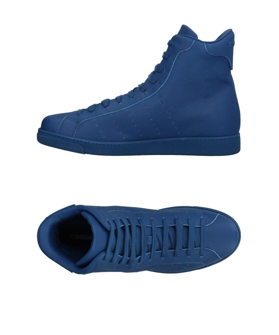 Image for Dsquared2 Blue Leather High Top Sneakers