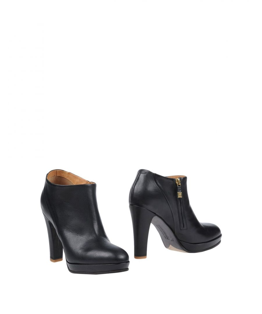 Image for Alberto Fermani Black Leather Heeled Ankle Boots