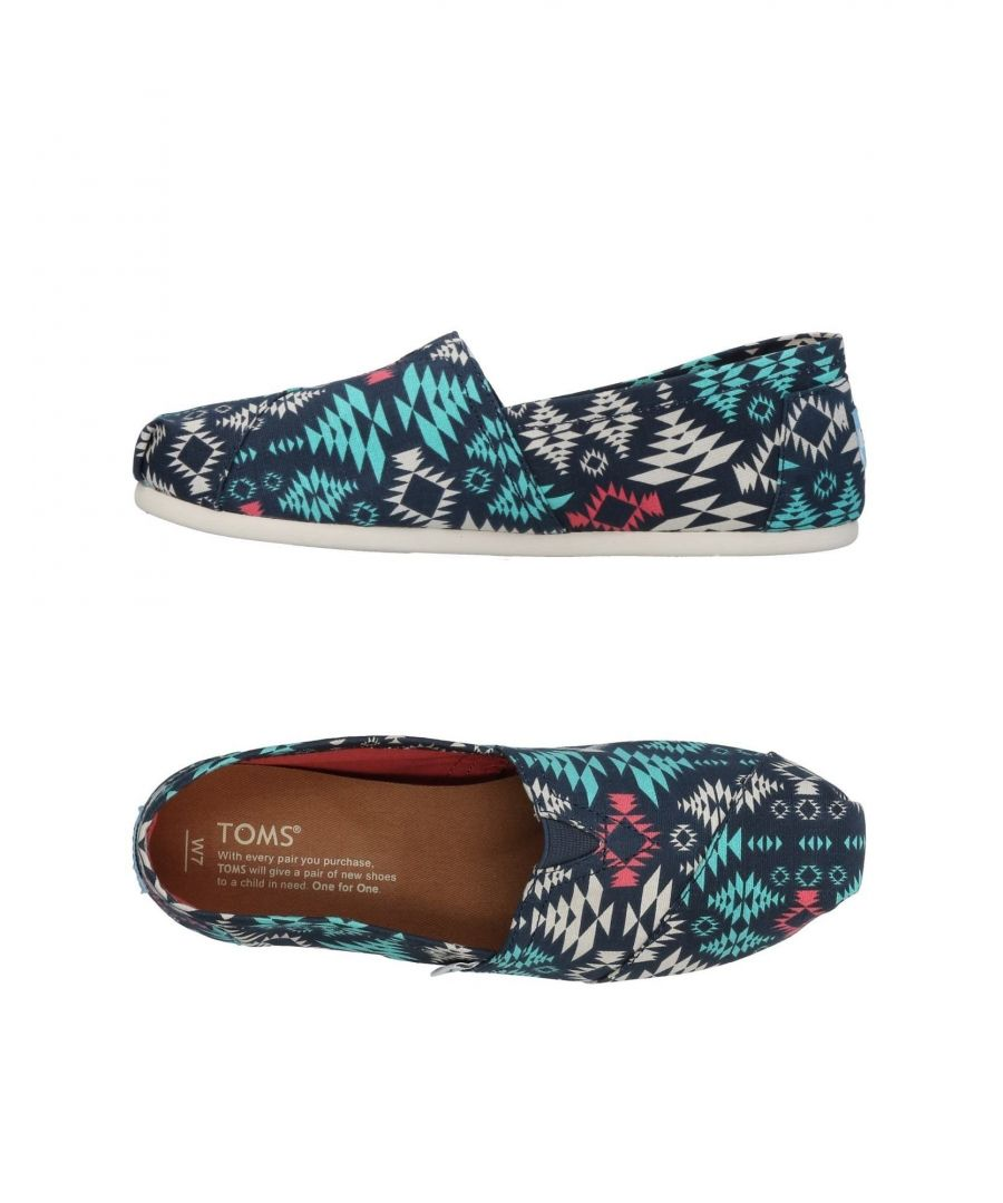 Image for Toms Dark Blue Print Canvas Classic Shoes