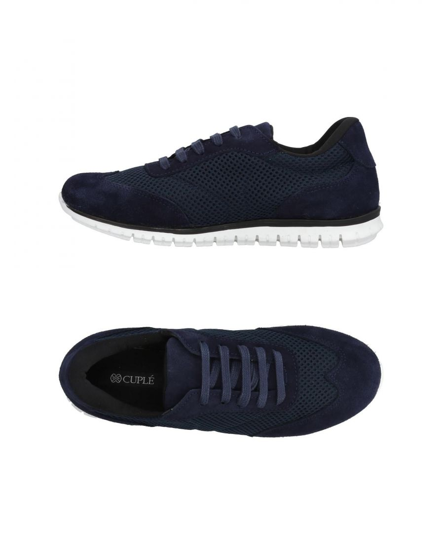 Image for Cuple Dark Blue Leather Sneakers