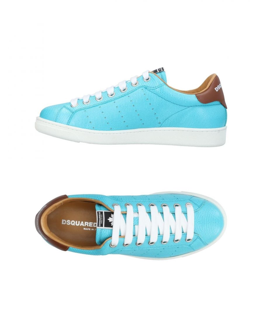 Image for Dsquared2 Turquoise Leather Sneakers