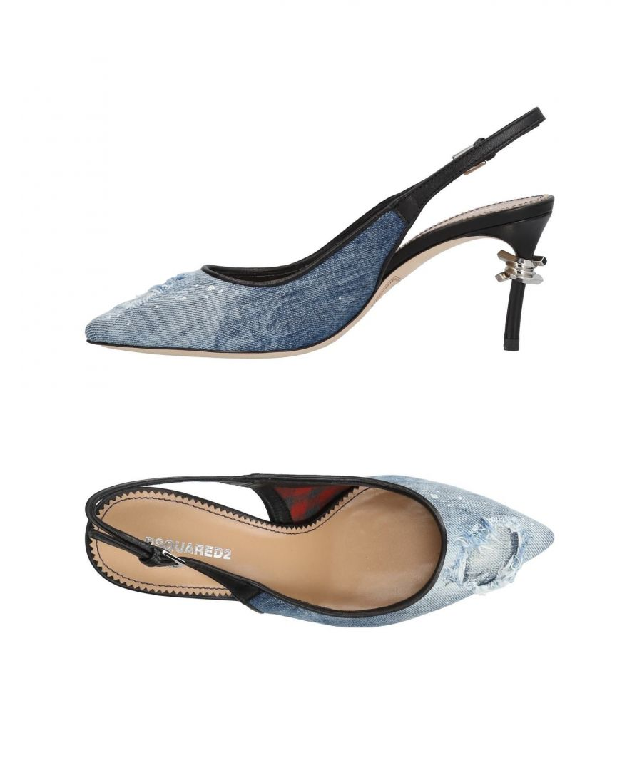 Image for Dsquared2 Blue Denim Slingback Heels
