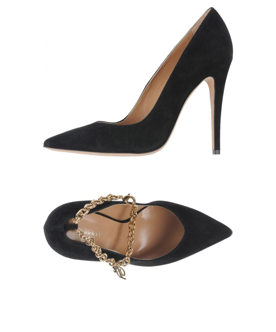 Image for Dsquared2 Black Leather Court Shoes