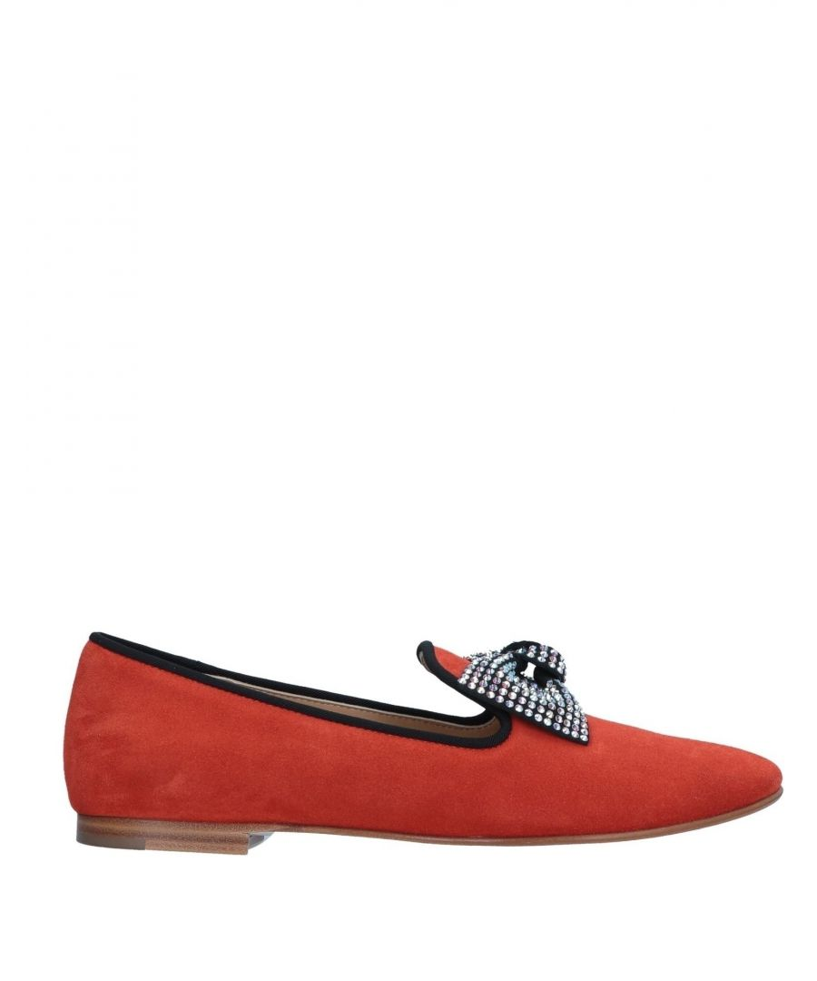 Image for Giuseppe Zanotti Red Leather Loafers