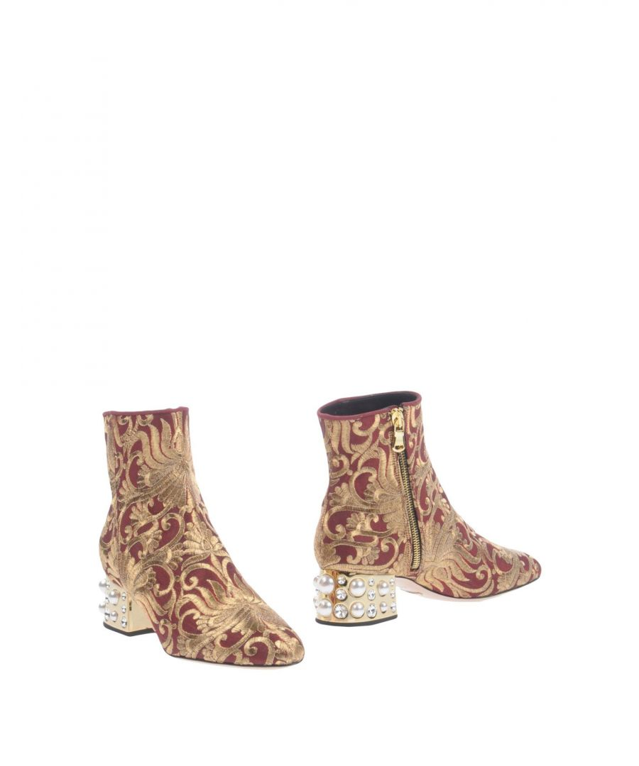 Image for Sebastian Maroon Brocade Ankle Boots