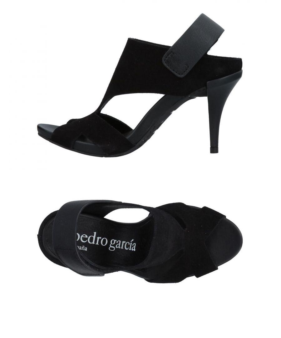 Image for Pedro Garcia Black Leather Heeled Sandals