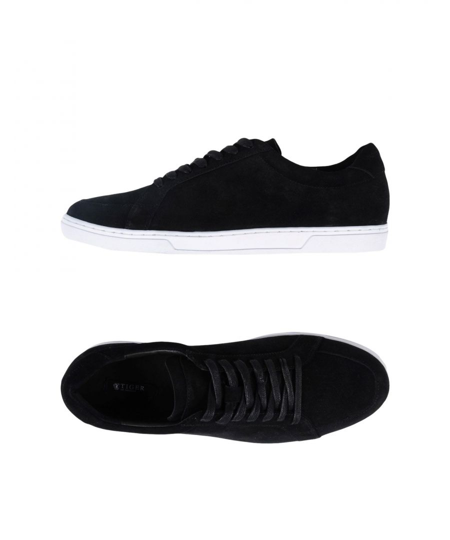 Image for Tiger Of Sweden Black Calf Leather Sneakers