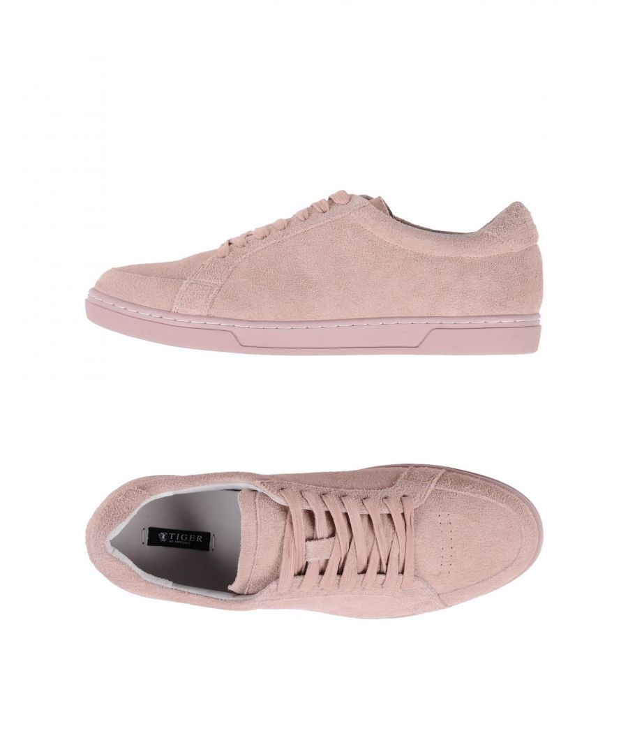 Image for Tiger Of Sweden Pastel Pink Calf Sneakers