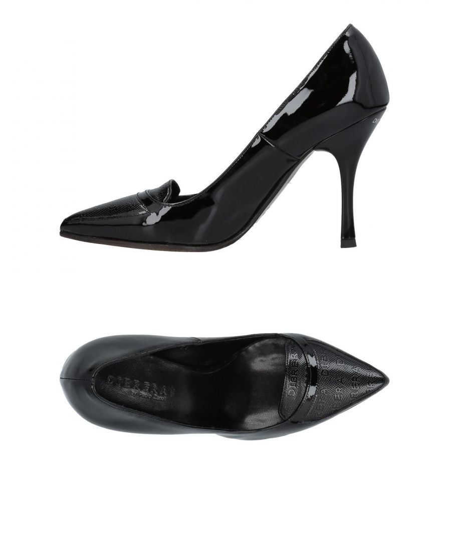 Image for Dibrera By Paolo Zanoli Black Leather Pointed Heels