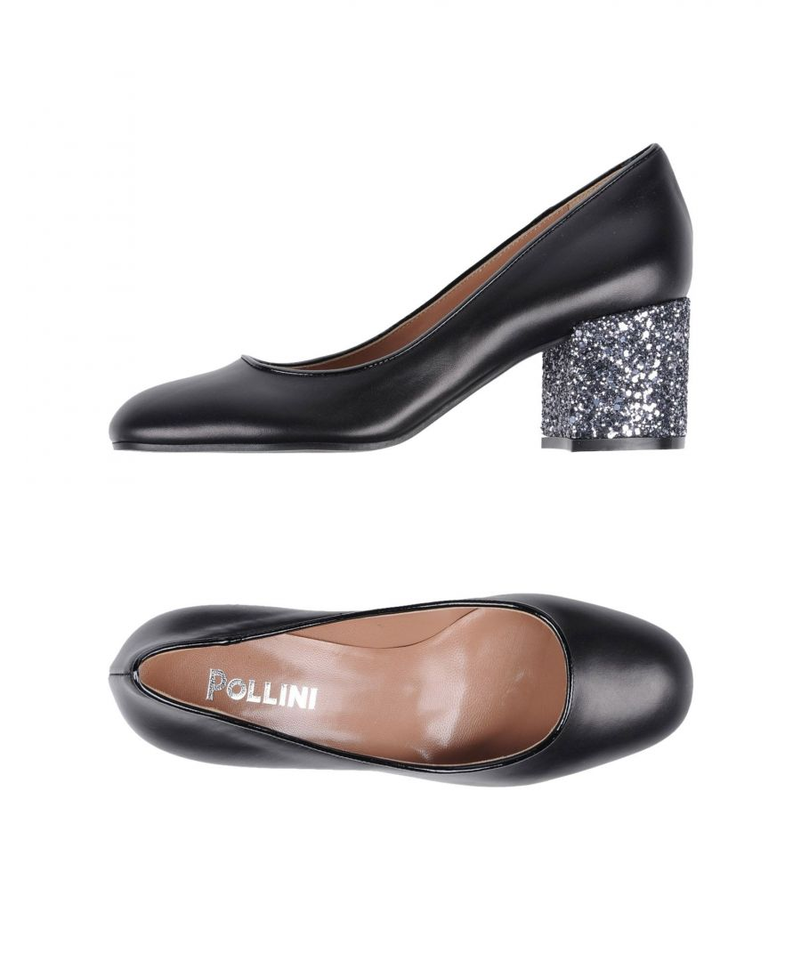 Image for Pollini Black Calf Leather Heels