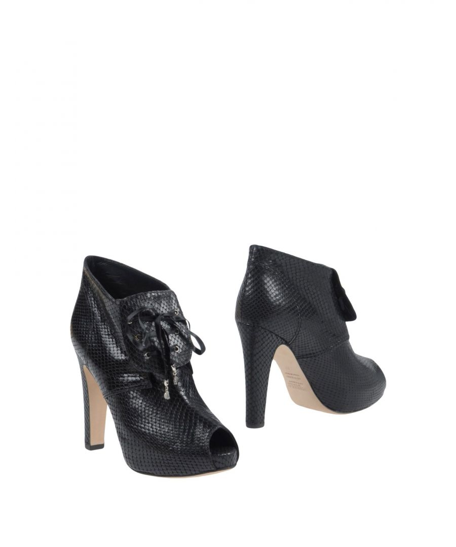 Image for Dibrera By Paolo Zanoli Black Leather Heeled Ankle Boots