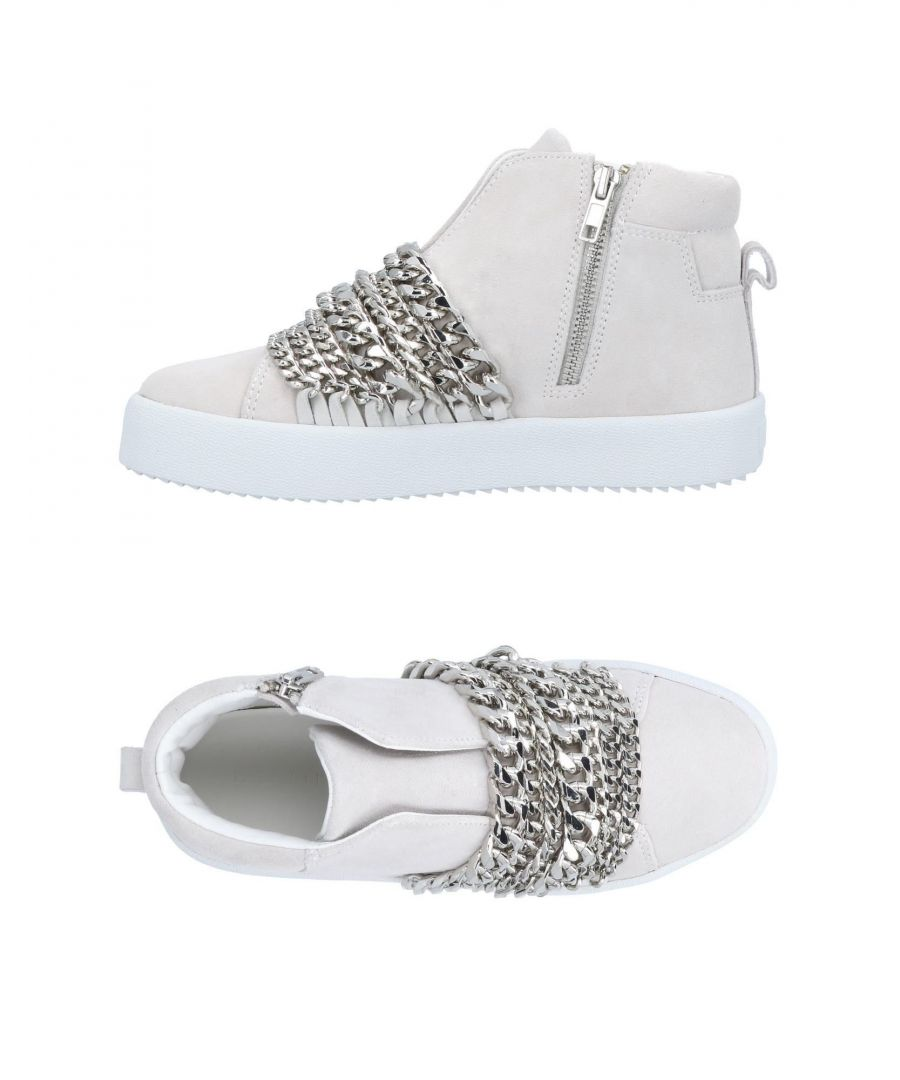 Image for Kendall + Kylie Ivory Leather Sneakers