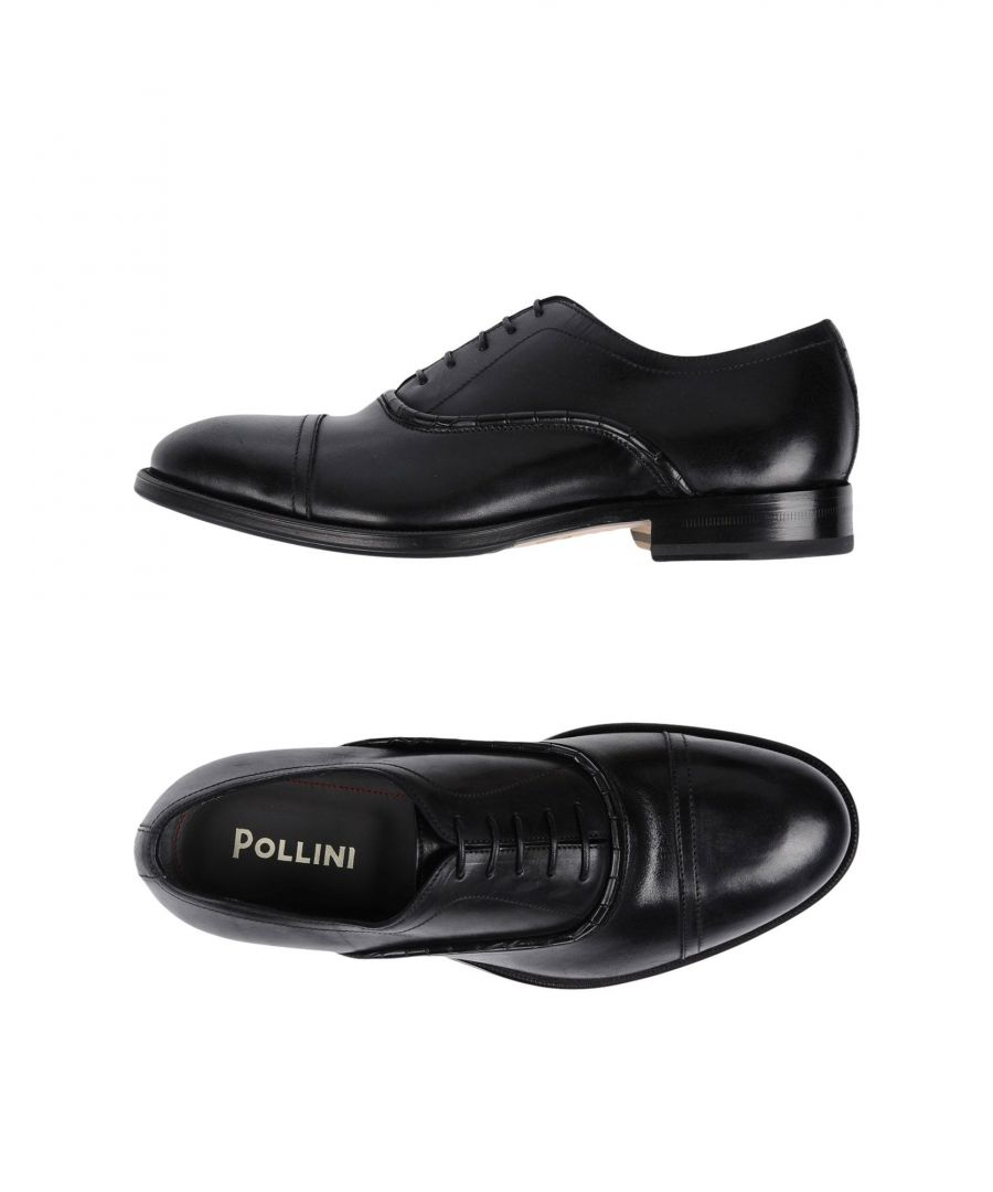 Image for Pollini Black Calf Leather Lace Up Shoes