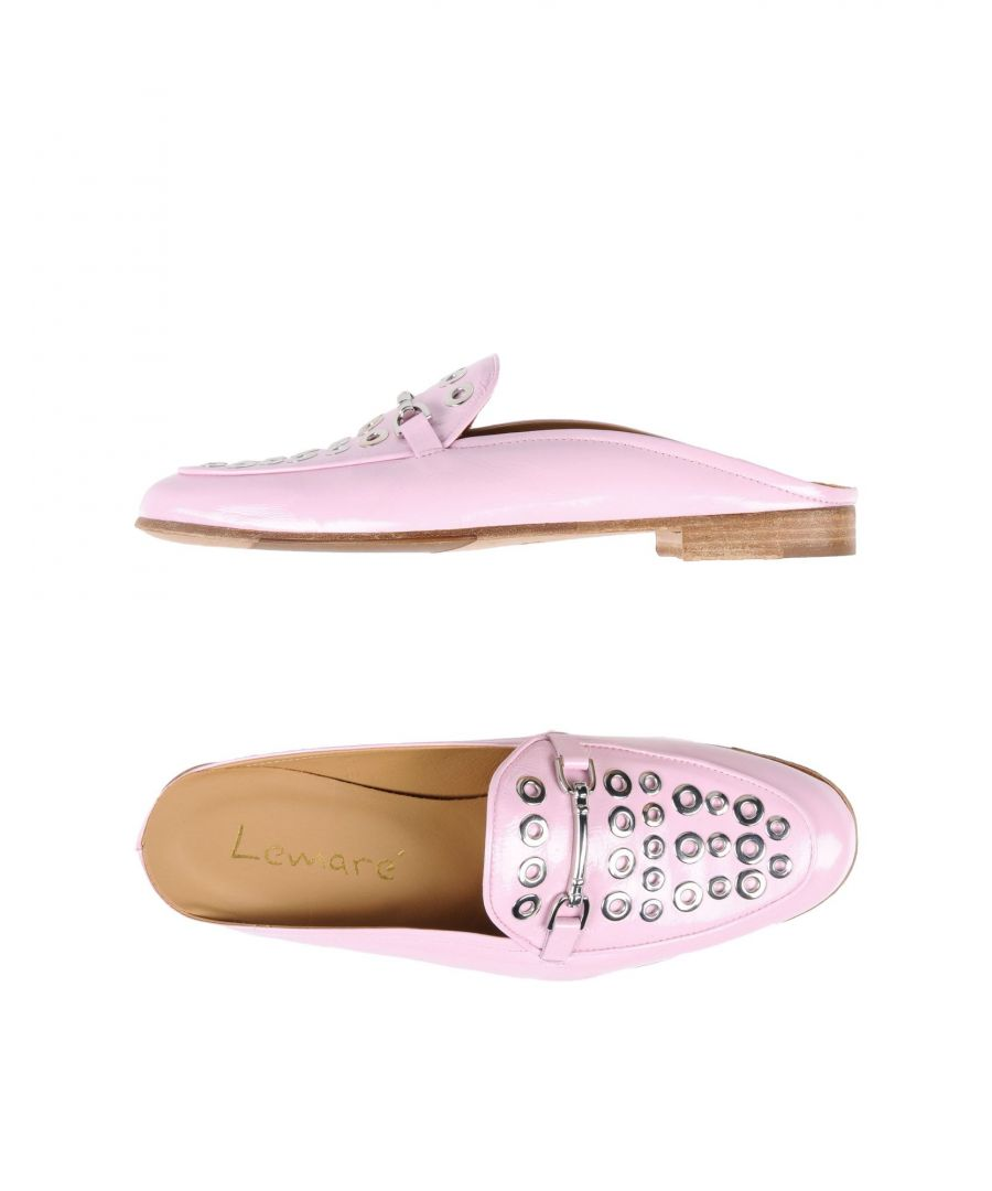 Image for Lemare Light Pink Studded Leather Loafers