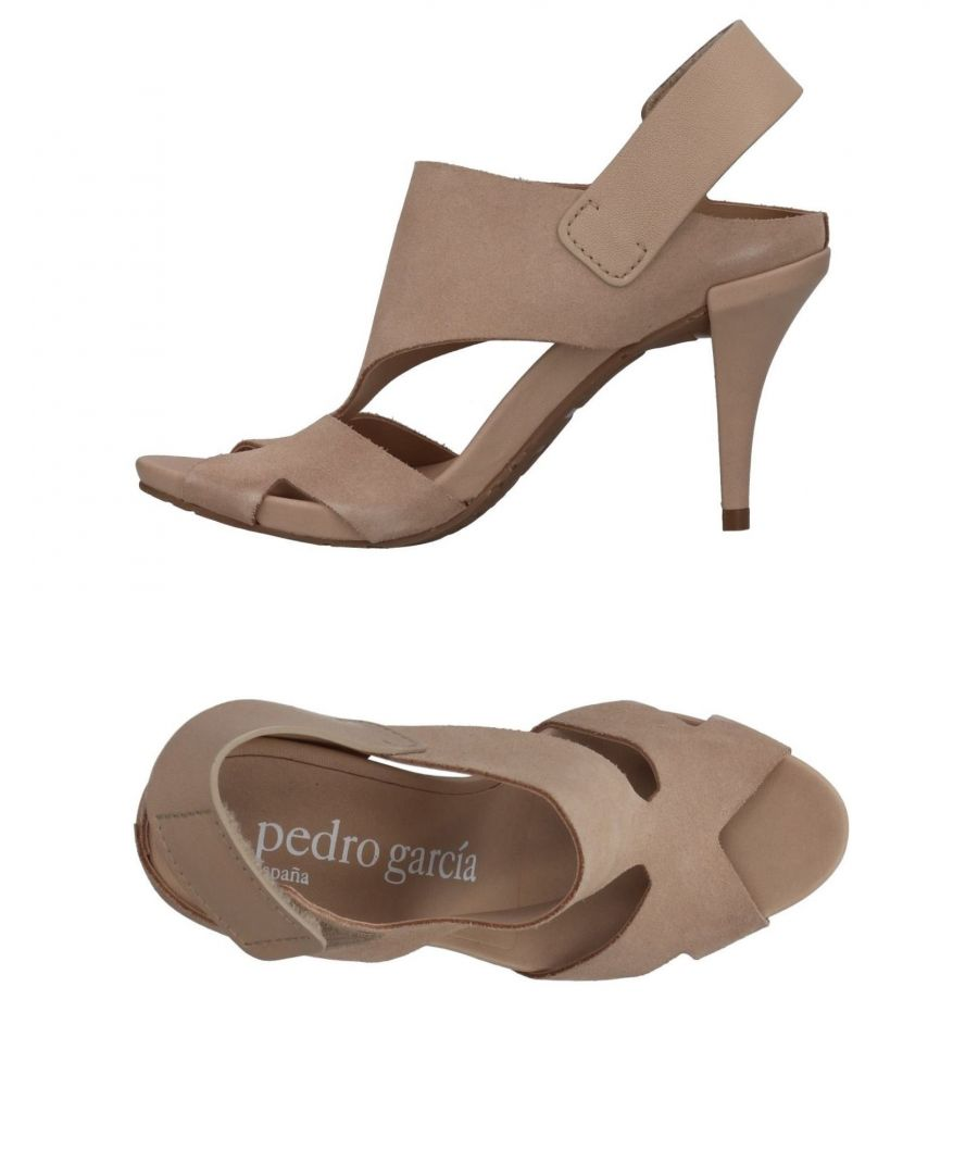 Image for Pedro Garcia Sand Leather Heeled Sandals