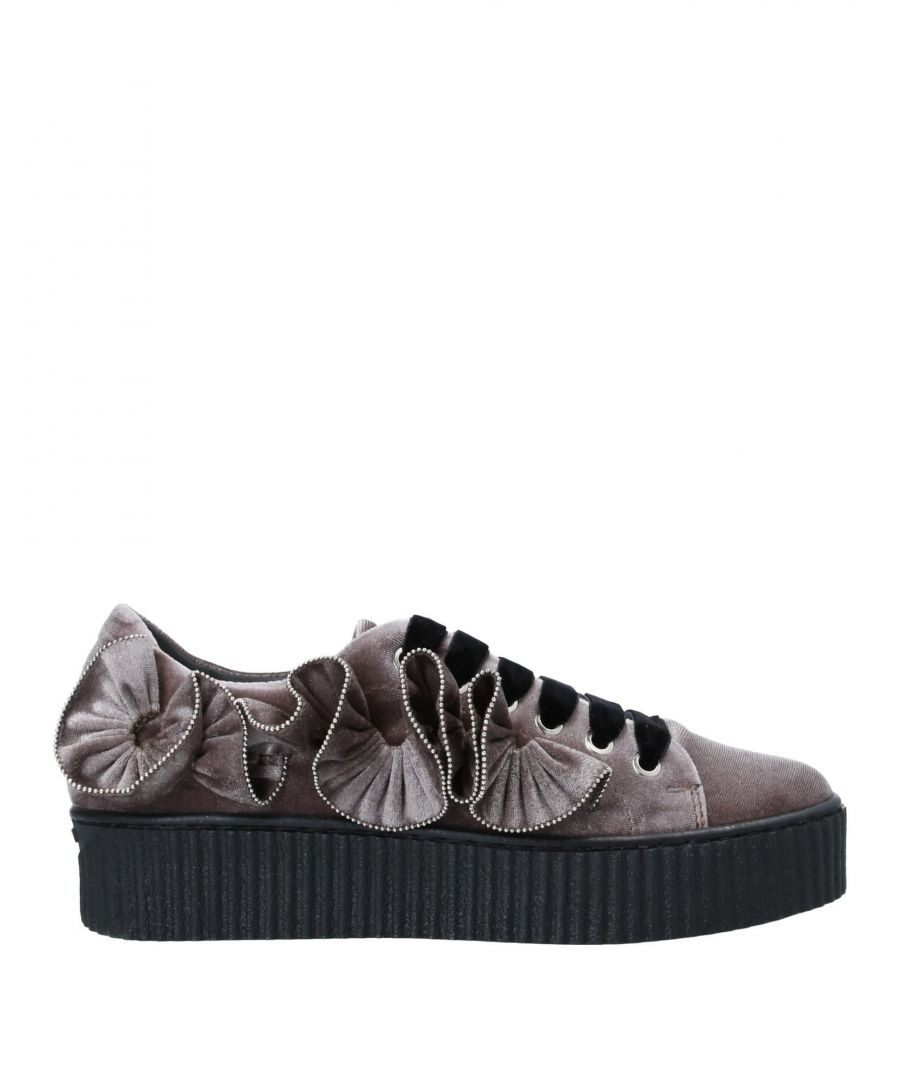 Image for Pinko Grey Velvet Sneakers