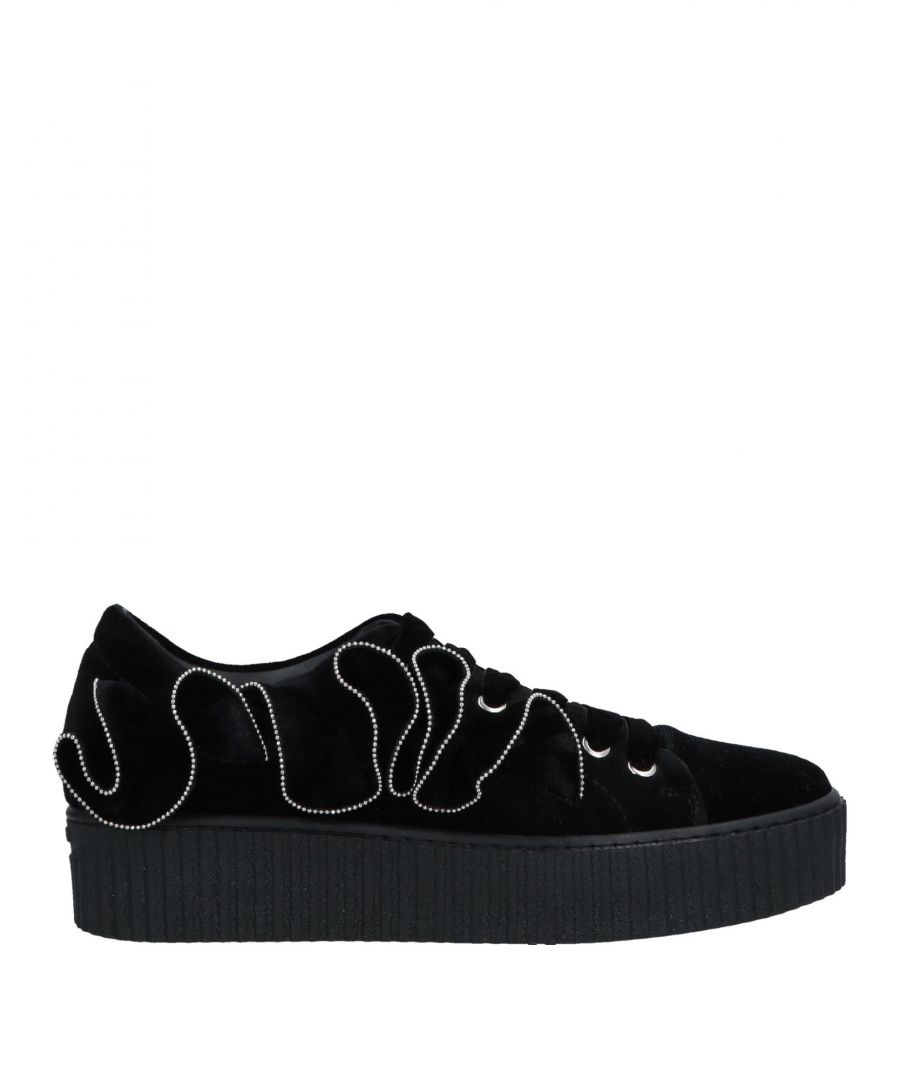 Image for Pinko Black Velvet Sneakers