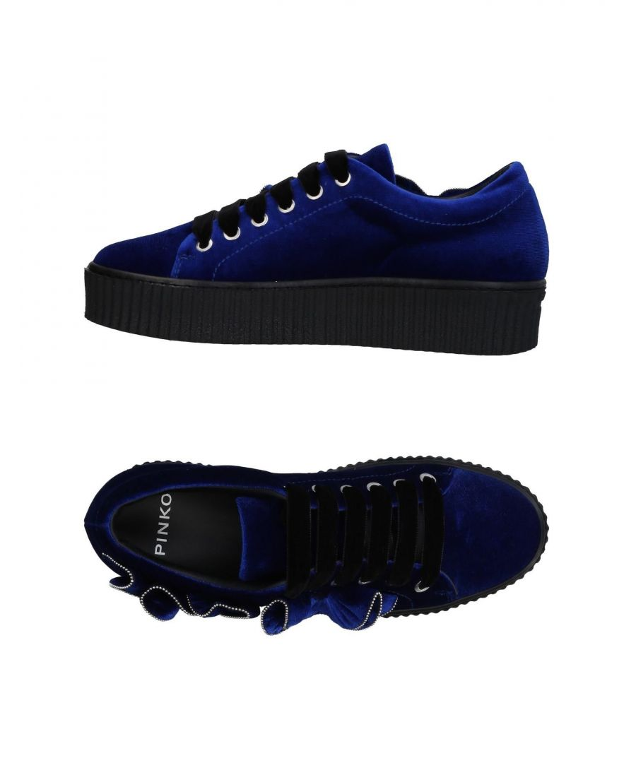 Image for Pinko Dark Blue Velvet Sneakers