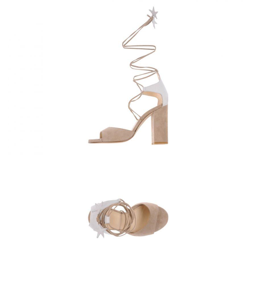 Image for Carla Saint-Barth Beige Leather Heeled Sandals