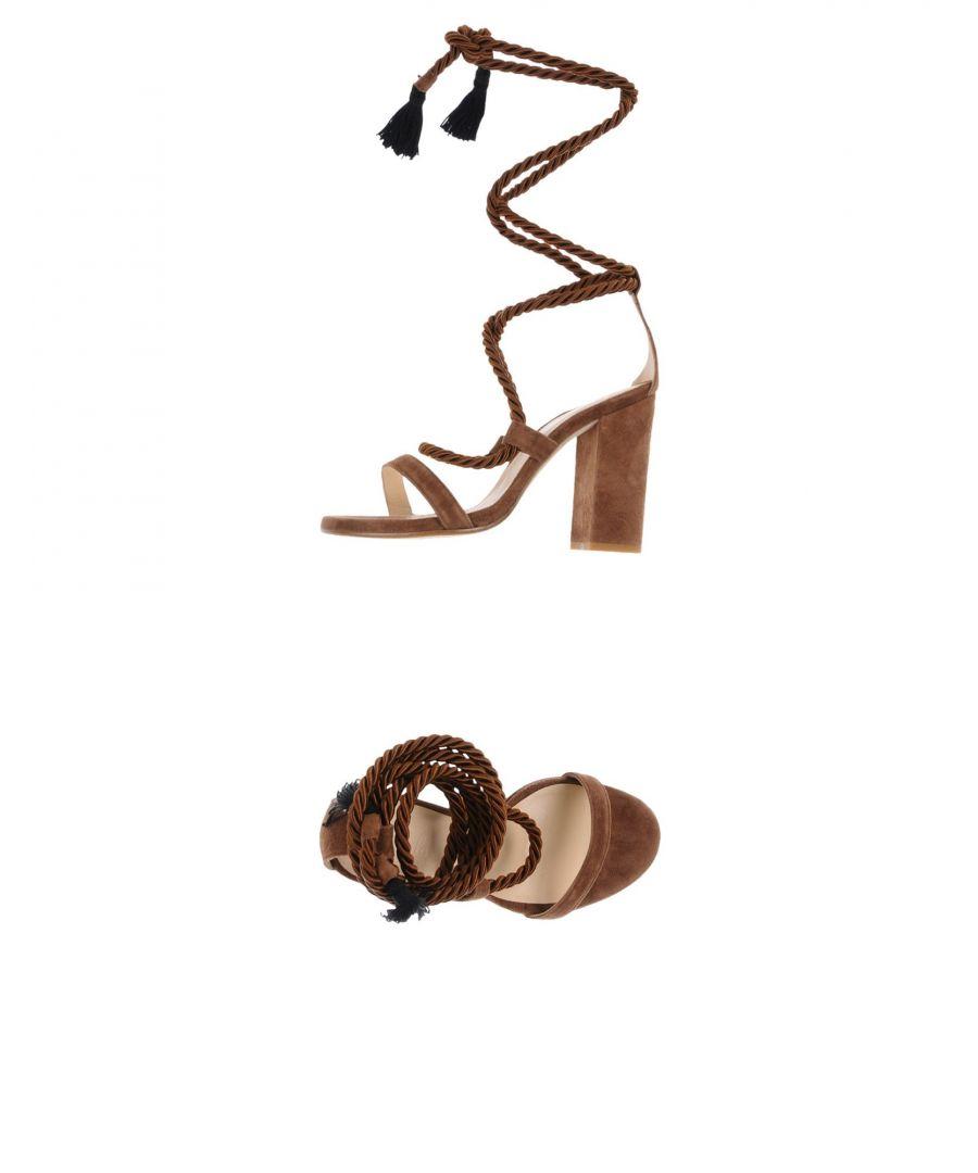 Image for FOOTWEAR Carla Saint-Barth Brown Woman Leather