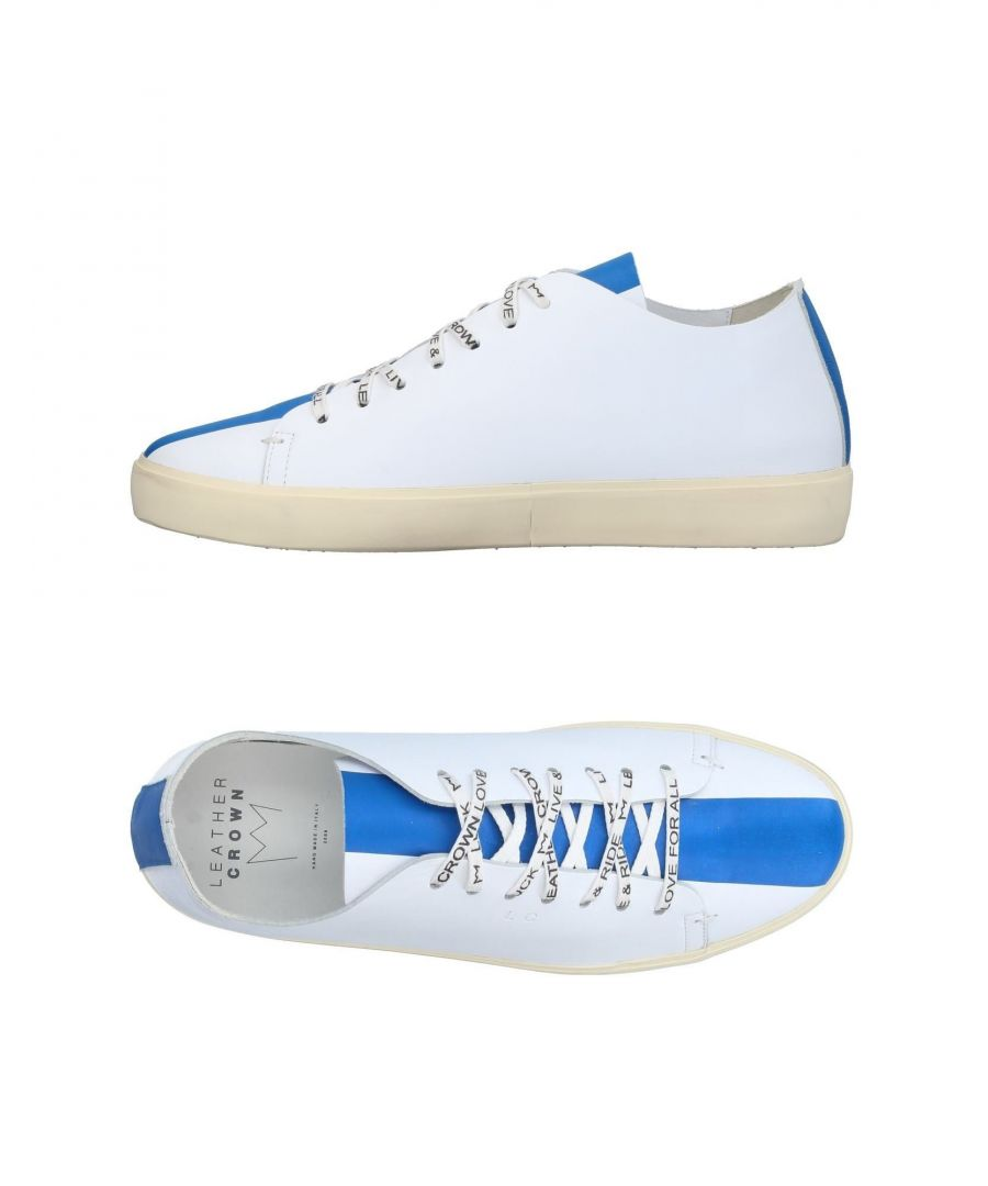 Image for Leather Crown Azure Stripe Leather Sneakers