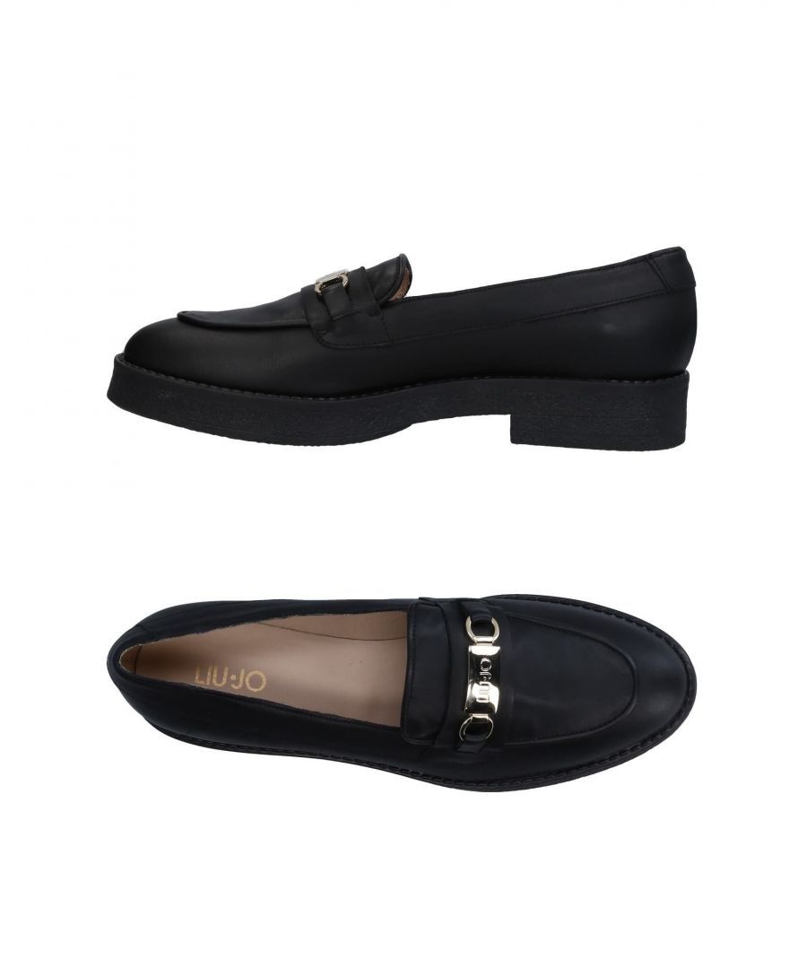 Image for Liu Jo Black Leather Loafers