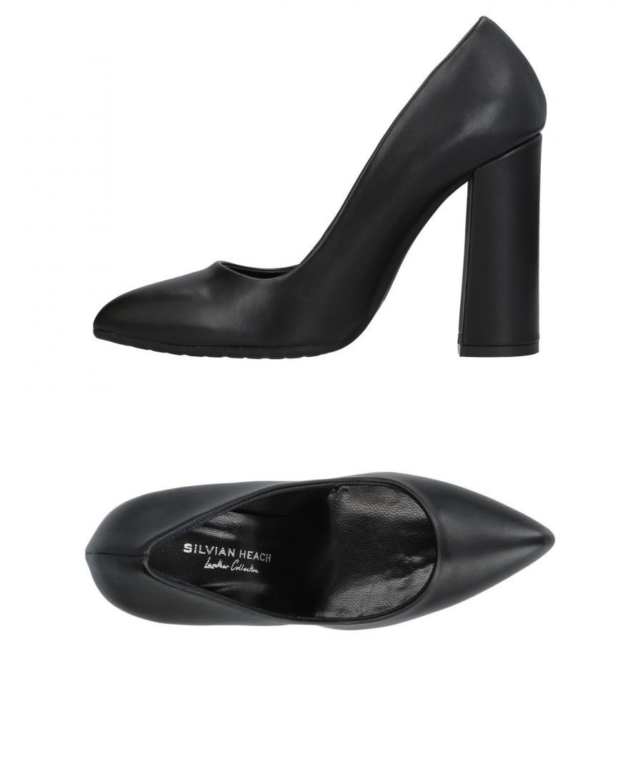 Image for Silvian Heach Black Leather Heels