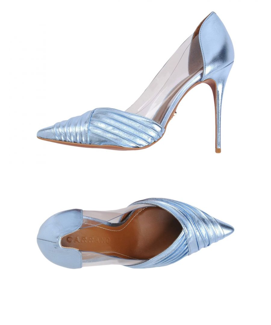 Image for Carrano Sky Blue Leather Heels
