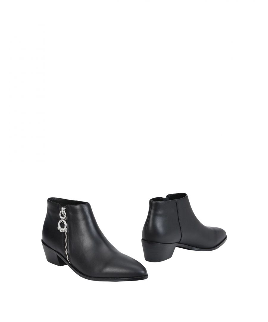 Image for Senso Black Leather Ankle Boots