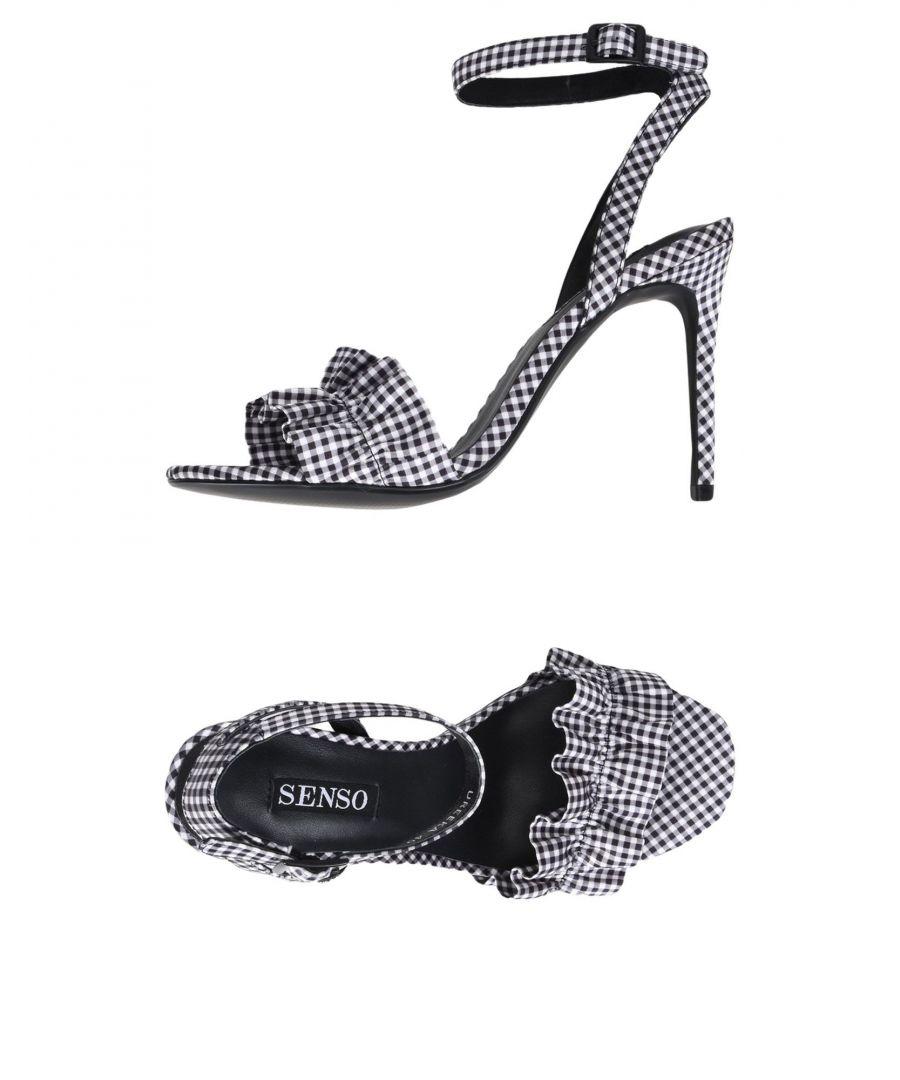 Image for Senso Light Grey Check Heeled Sandals