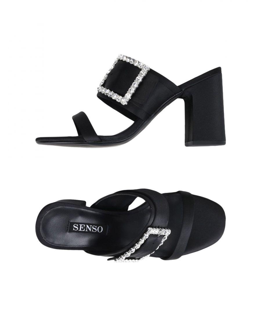 Image for Senso Black Satin Embellished Heels