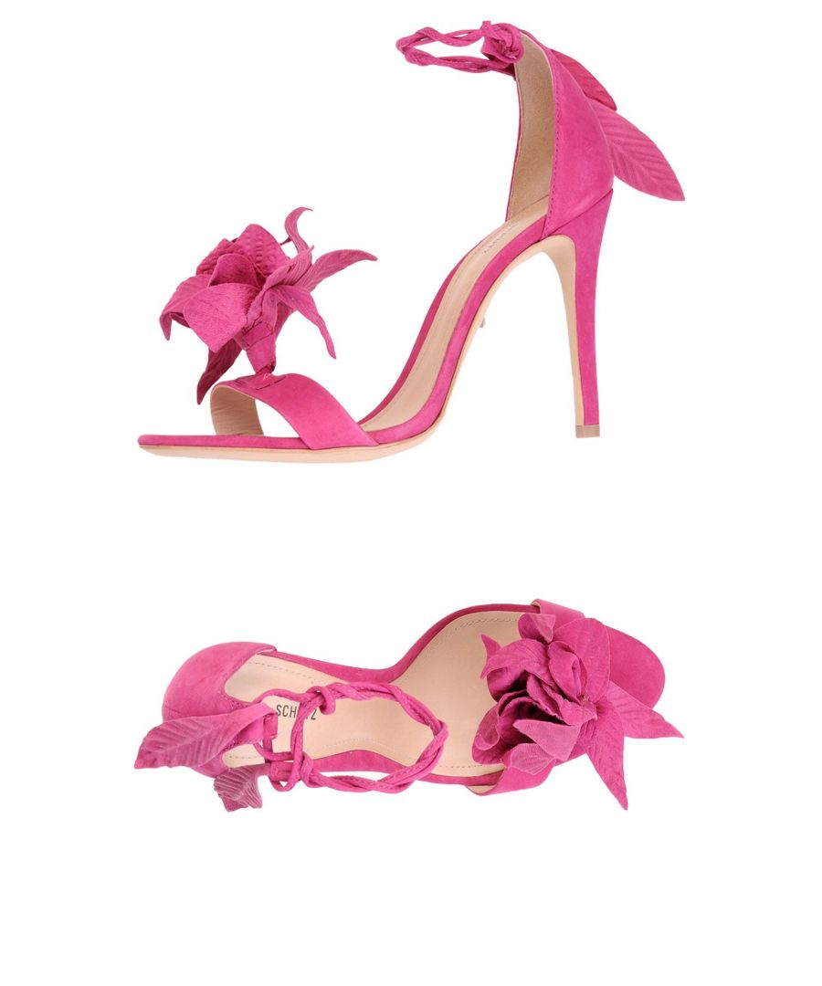 Image for Schutz Fuchsia Leather Heeled Sandals